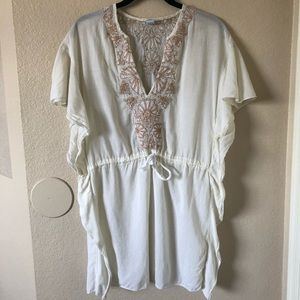 Free People embroidered sheer flattering dress